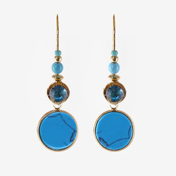 BOUCLES DROP-DO-TURQUOISE